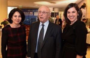 Hadassah UK Board Members Nathalie Dwek, Sir Ian Gainsford, Hadassah International Executive Director Melissa B. Kaplan