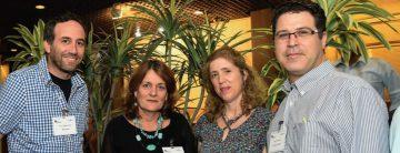 Esquerda para direita: Prof. Shahar Arzy, Diretor da Hadassah Hospital Neuropsychiatry Clinic e do Computational Neuropsychiatry Laboratory do Hadassah-Hebrew University Medical School; Dra. Tamar Raz, CEO, Hadasit; Dr. Michal Rozen-Zvi, Diretor de Health Informatics, IBM; e Talor Saxs, CEO, eHealth Ventures